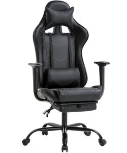 6. BestOffice Ergonomic Office Chair with Footrest (White)