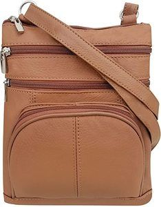 6. Roma Leathers Genuine Cross Body Purse Bag
