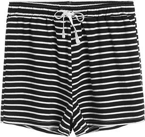 7. Latuza Women's Cotton Striped Pajama Shorts