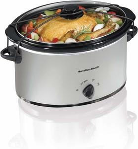 8. Hamilton Beach Portable 7-Quart Slow Cooker
