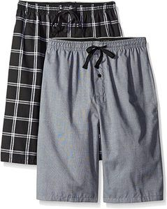 8. Hanes Men's 2-Pack Woven Pajama Short