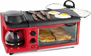 8. Nostalgia BSET300RETRORED 3-in-1 Breakfast Station