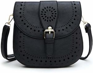 9. Forestfish Ladie's PU Leather Vintage Bag