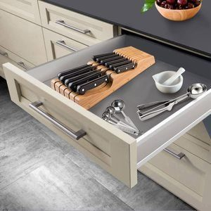 1. Bambusi In-Drawer Knife Block, Hold 10-15 Knives