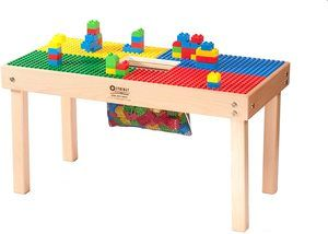 10. Heavy Duty DUPLO Compatible Table with Built-in Lego Storage