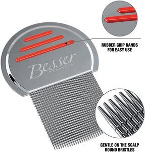 10. Stainless Steel Head Lice Comb - Pro Grade Louse and Nit Removal