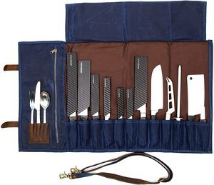 11. ExecuChef Waxed Canvas Knife Roll