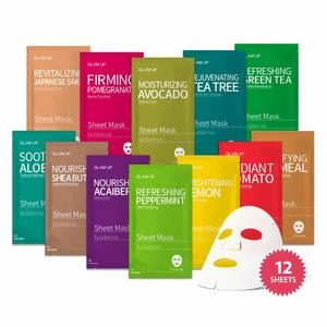 #2 Sheet mask by Glam Up Facial Sheet Mask BTS 12Combo