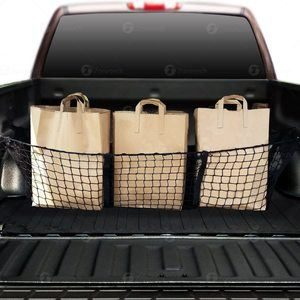 #2 Zone Tech Car Trunk Mesh Cargo Net Three Pocket