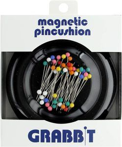 2. Grabbit Magnetic Sewing Pincushion, Black