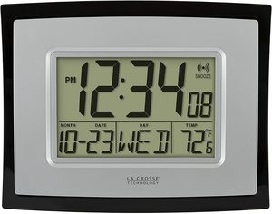 #2.La Crosse Technology Digital Wall Clock, WT-8002U