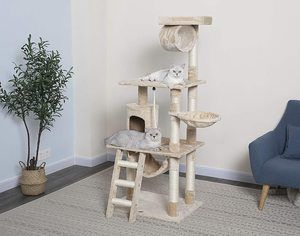 #3. Go Pet Club Cat Tree, 62 Inches