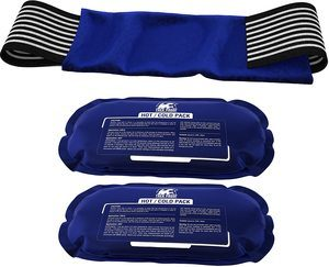 3. Reusable Hot and Cold Therapy Gel Wrap, (2-Piece Set)