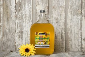 #4 Smude Sunflower Oil 1 Gallon Glass