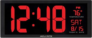 #5. AcuRite 75127M Large Oversized 14.5 Inch LED Clock
