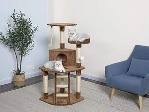 #5. Go Pet Club Cat Condo House Tree, 32W x 25L x 47.5H Inches