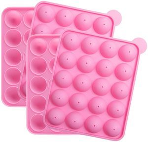 5. Tosnail 2 Pack of 20-Cavity Silicone Cake Pop Mold