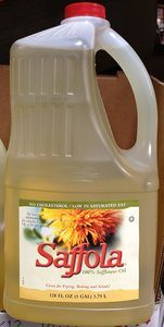#6 1 Gallon Saffola 100% Safflower Oil (128oz) 3.79 Liter