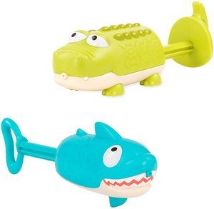 6. B. toys – Splishin' Splash Animal Water Squirts Duo Pack