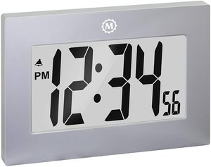#6. Marathon Large Battery Operated Digital Wall Clock
