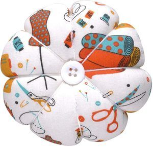 6. eZAKKA Polka Pumpkin Wrist Band Pin Cushions