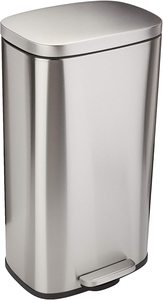 #7 AmazonBasics Rectangle, Stainless Steel Trash Can