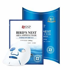 #7 SNP - Bird's Nest Aqua Ampoule Moisturizing Korean Face Sheet Mask