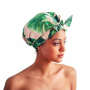 7. Kitsch Luxury Shower Cap for Women (Leopard)