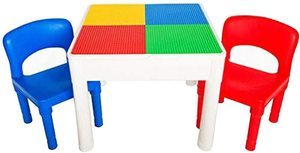 7. PlayBuild Kids 4 in 1 Play & Build Table Set