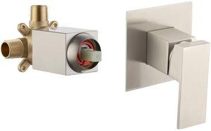 #8 KES BRASS Shower Faucet Body Valve and SOLID Stainless Steel