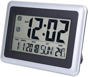 #8. FORESTIME Large LCD Screen Digital Wall Clock