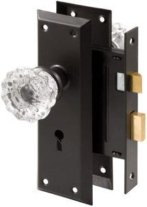 #8. Prime-Line E 2497 Classic Bronze Mortise Keyed Lock