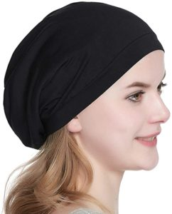 8. Satin Lined Sleep Cap