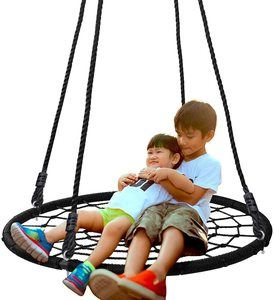 1. SUPER DEAL 40'' Spider Web Tree Swing
