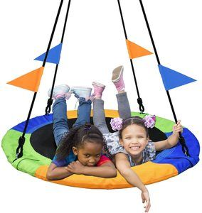 4. PACEARTH 40 Inch Saucer Tree Swing