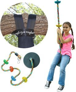 6. Jungle Gym Kingdom Tree Swing -Snap Hook and 4 Feet Strap