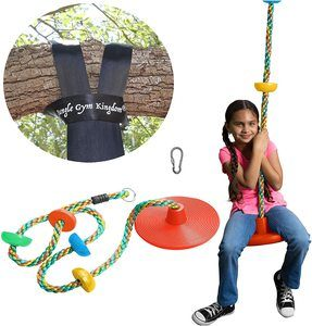 7. Jungle Gym Kingdom Tree Swing -Bonus Carabiner and 4 Feet Strap
