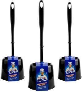 7. MR.SIGA Toilet Brush with Holder, Pack of 3
