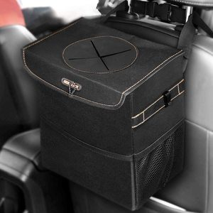 8. BOLTLINK Car Trash Can with Lid