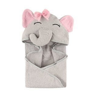 #1 Hudson Baby Unisex Baby Cotton Animal Face Hooded Towel