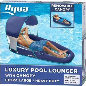1. Aqua Oversized Deluxe Pool Lounger