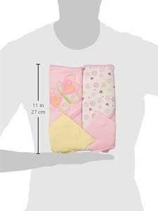 #10 Spasilk Hooded Terry Bath Towel with Washcloths