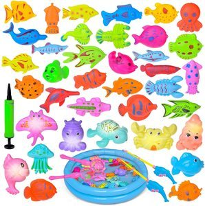 11. Fun Little Toys Magnetic Fishing Toys, 42PCs