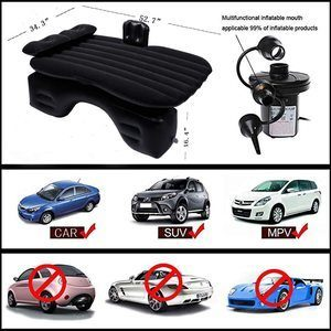 2. Onirii Inflatable Car Air Mattress with Back Seat Pump