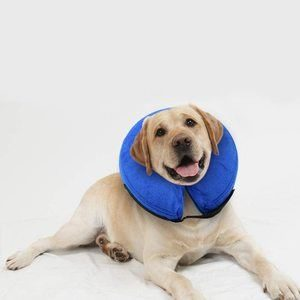 4. E-KOMG Dog Cone After Surgery, Protective Inflatable Collar