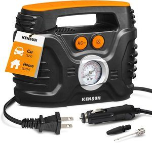 4. Kensun AC DC Power Supply Portable Air Compressor Pump