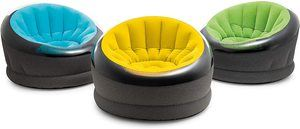 5. Intex Inflatable Empire Chair, Color May Vary