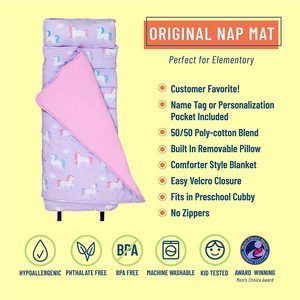 #6 Wildkin Original Nap Mat with Pillow
