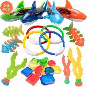 6. HENMI Diving Toy for Pool Use, 26 Pack