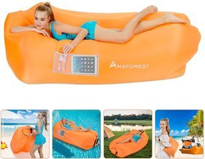 6. Inflatable Lounger Air Sofa Hammock with Pillow and Carrying Bag